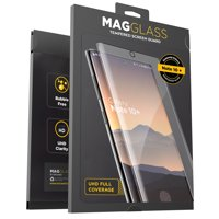 Magglass Galaxy Note 10 Plus Tempered Glass Screen Protector w/ Fingerprint Display Compatibility - Anti Bubble UHD Clear Full Coverage Resistant Screen Guard for Samsung Note 10+ (Case Frienly)