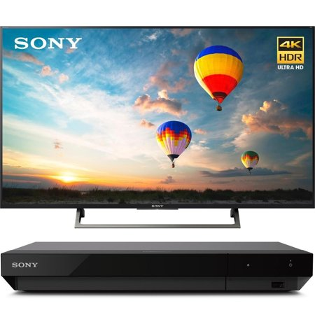 Sony 55-inch 4K HDR Ultra HD Smart LED TV 2017 Model (XBR-55X800E) with Sony 4K Ultra HD Blu Ray Player with Dolby Vision