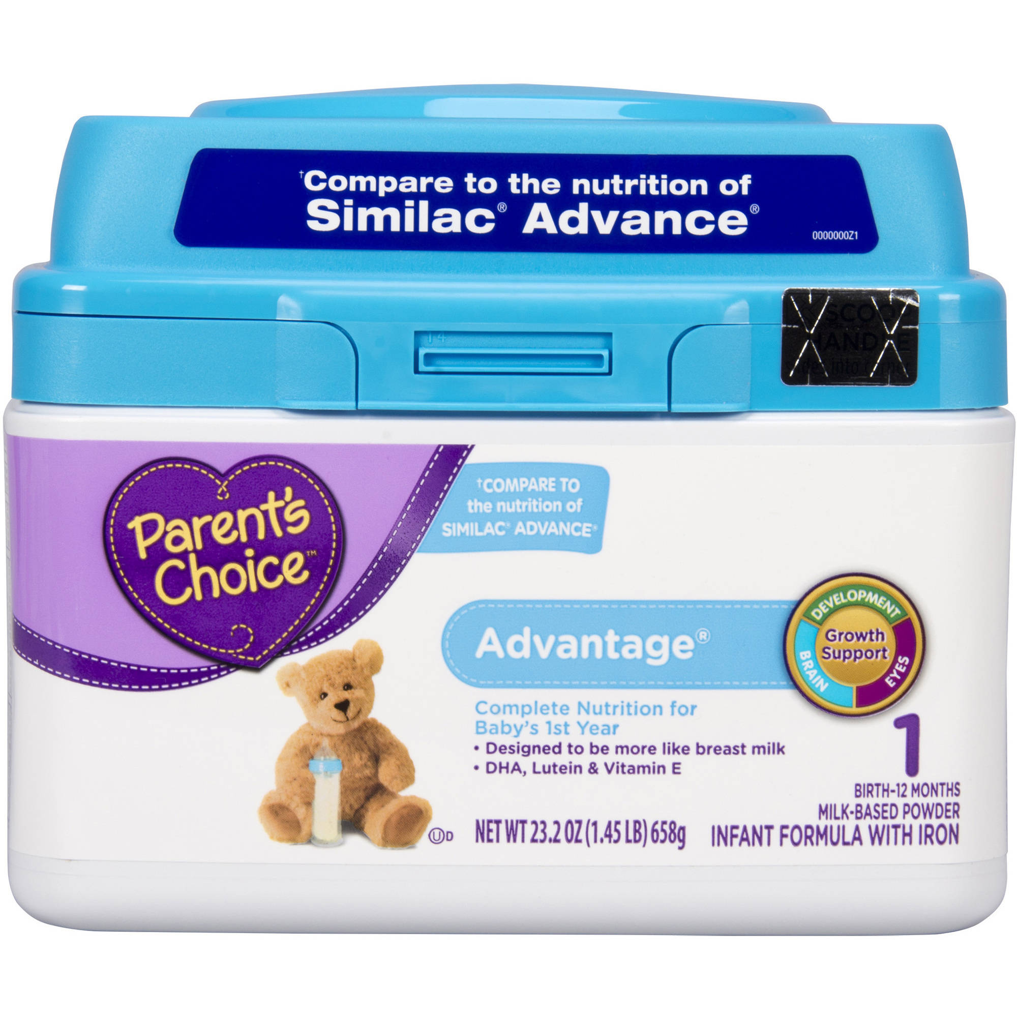 Parent's Choice Advantage Powder Infant Formula with Iron, 23.2oz
