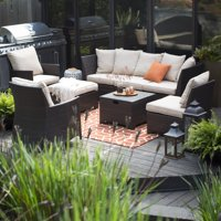 Coral Coast South Isle All-Weather Wicker 8 Piece Patio Conversation Set