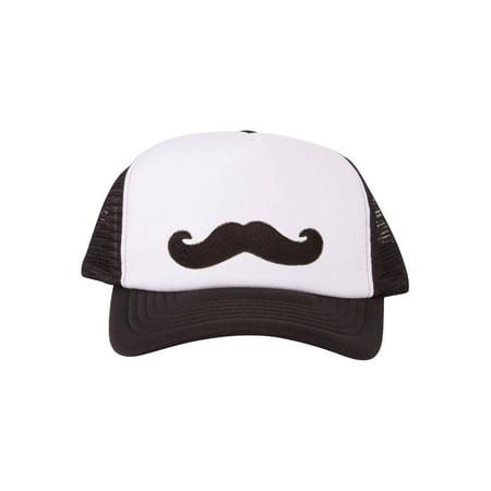 Mustache Patch Trucker Foam Panel Hat](Trucker Mustache)