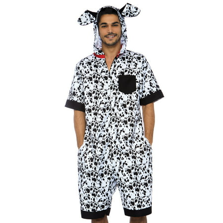 Leg Avenue Men's Dalmatian Costume, Black/White, SML/MED (Dalmatian Costume Ideas)