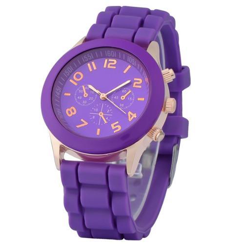 zodaca purple unisex silicone jelly quartz