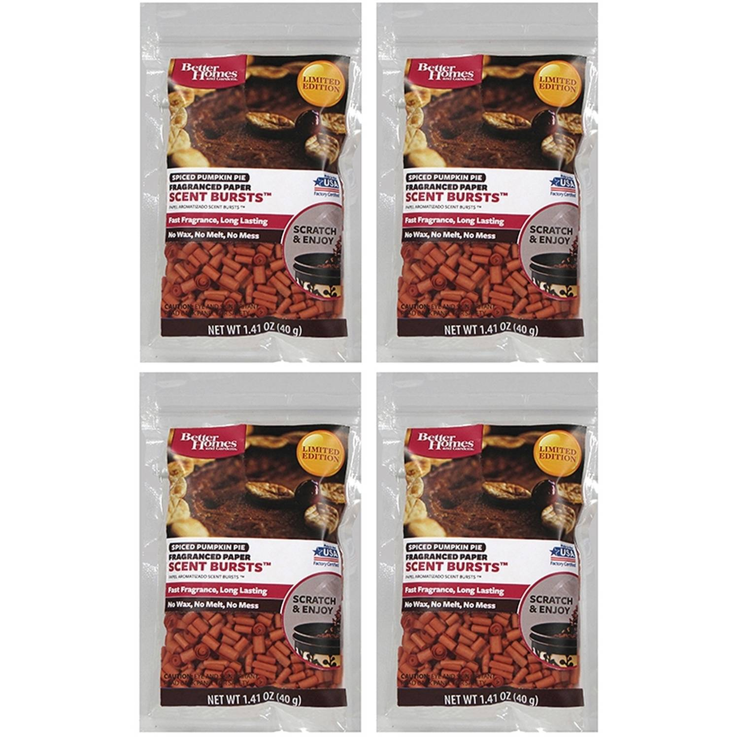 Better Homes And Gardens 4pk Scent Bursts SPICED PUMPKIN PIE