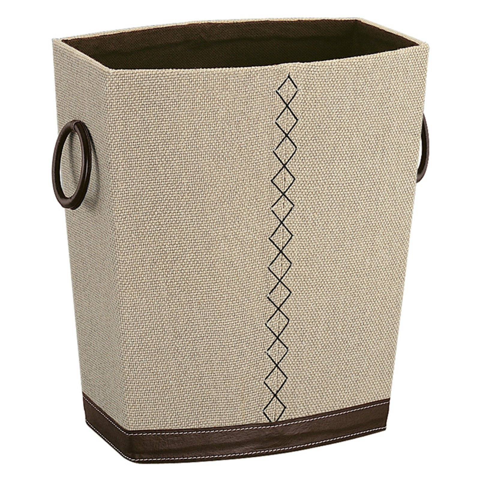 Organize It All Beige and Brown Wastebasket
