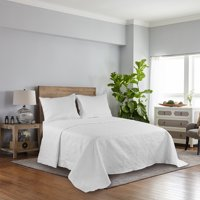 Mainstays Scroll Quilted Bedspread, King, Arctic White