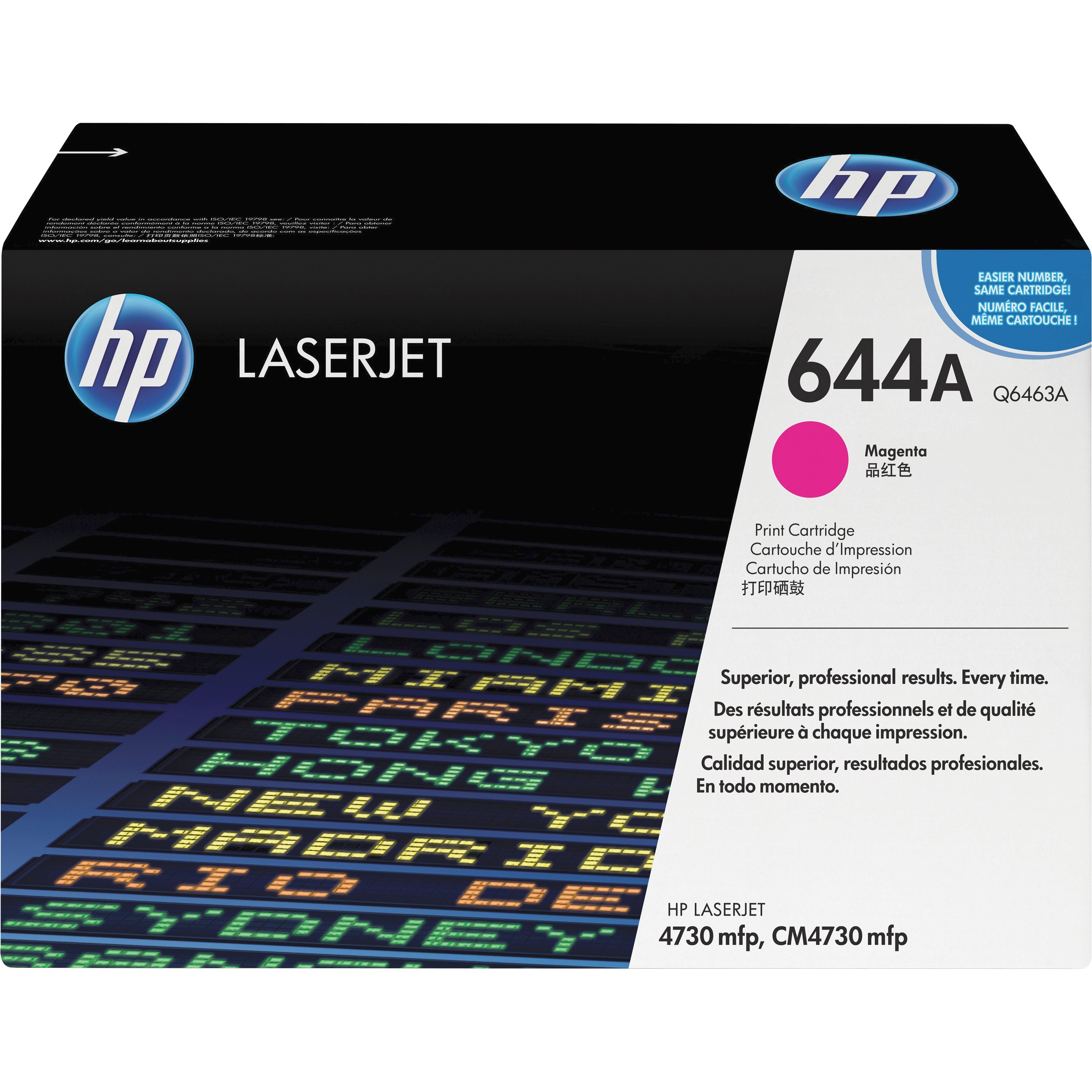 HP, HEWQ6463A, Q6460/1/2/3A Series Toner Cartridges, 1 Each