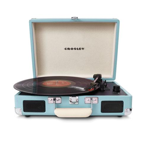 Crosley Cruiser Portable Turntable Turquoise + Crosley NP1 Replacement Needle + Cleaning Pen + Dust Blower + Cleaning Cloth