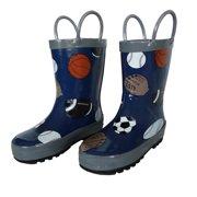 Foxfire FOX-600-14-7 Childrens Navy Sports Balls Rain Boot - Size 7