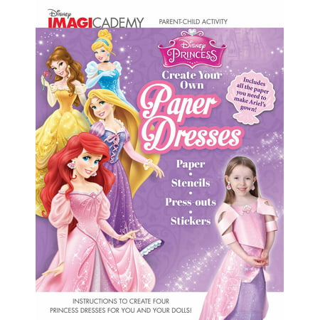 Disney Imagicademy: Disney Princess: Create Your Own Paper Dresses for $<!---->