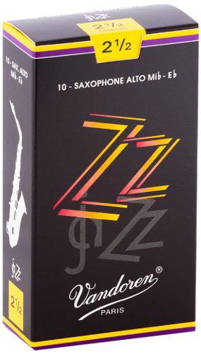 SR4125 Alto Sax ZZ Reeds Strength 2.5; Box of 10, ZZ JAVA 25 Bari Sax Reed and of Alto... by