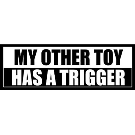 Sticker Iron (My Other TOY Has A TRIGGER Sticker Decal(funny gun toyota handgun) Size: 3 x 9 inch)