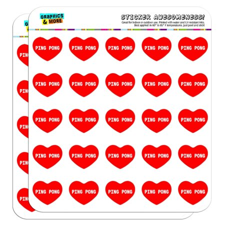 I Love Heart - Sports Hobbies - Ping Pong - 1