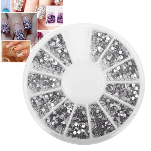 Zodaca Nail Art Tips 1.5mm 3D Crystal Giltter Bling Rhinestones Decoration Manicure Beauty 1200pcs