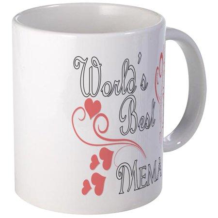 CafePress - Best Mema (Pink Hearts) Mug - Unique Coffee Mug, Coffee Cup CafePress