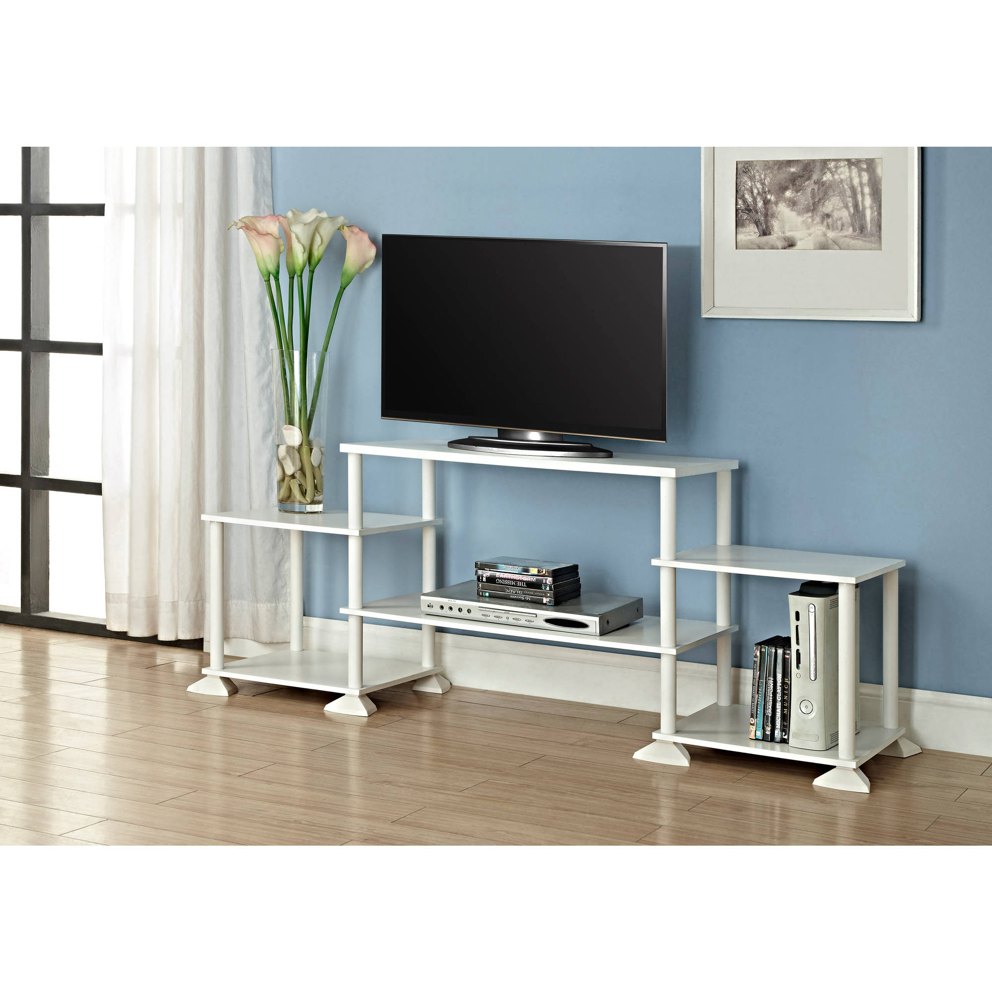 "Mainstays No Tools 3-Cube Storage Entertainment Center for TVs up to 40"", Multiple Colors"