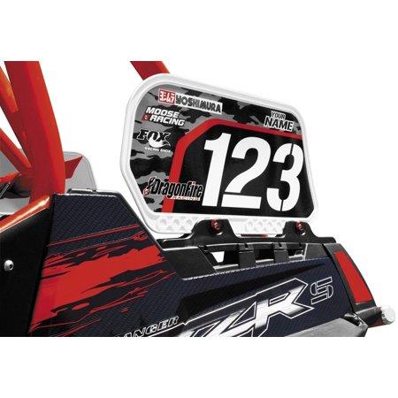 Dragonfire Racing 04-0033 Dragonskins Bed Rail Number Plate KIt