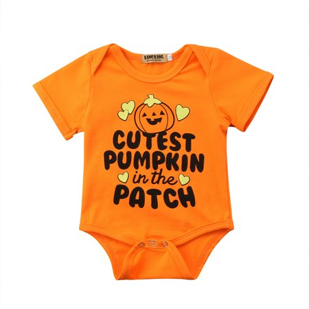 Halloween Opening Remarks (One opening Newborn Infant Toddler Baby Girl/Boy Short Sleeve Bodysuit Halloween Romper Jumpsuit Sunsuit)