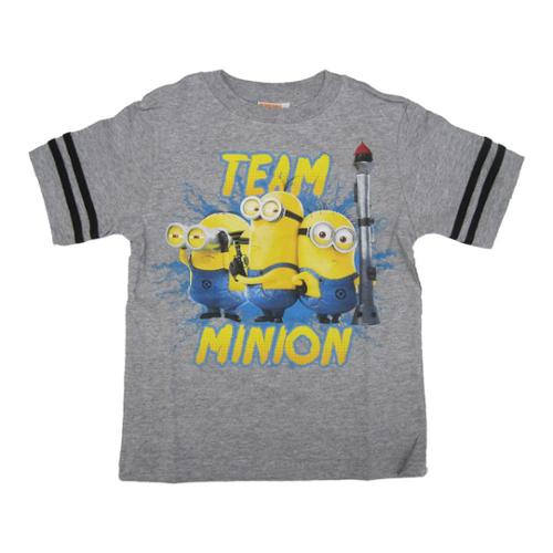 Minions Boys Grey Character Graphic Print Short Sleeve T-Shirt 6-14