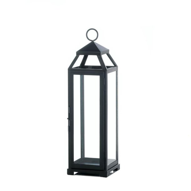 Outdoor Lantern Decor Large Lean Sleek