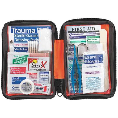 FIRST AID ONLY FAO-420 First Aid Kit, Bulk, Orange, 107Pcs, 1 Ppl