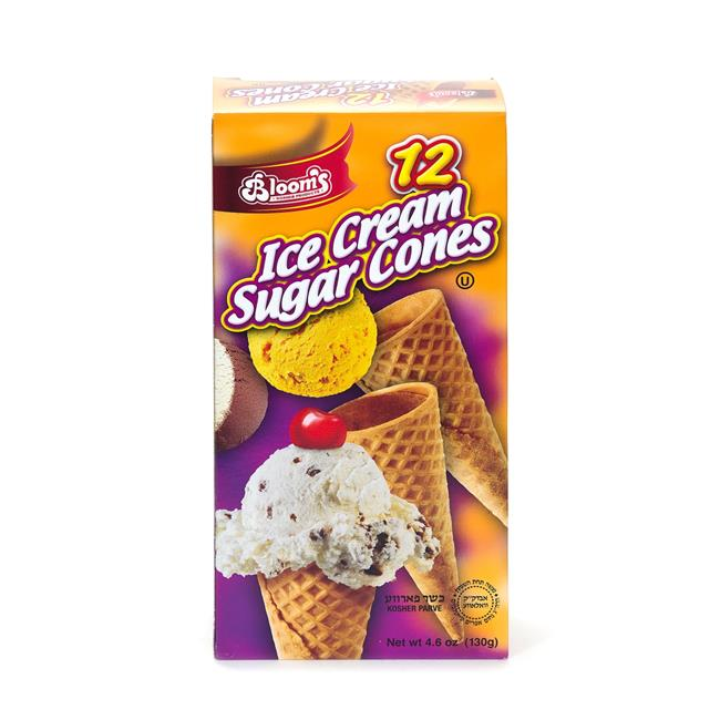 Blooms BLM1603 4.6 oz Ice Cream Sugar Cones 12 Count Pack of 24 by Blooms