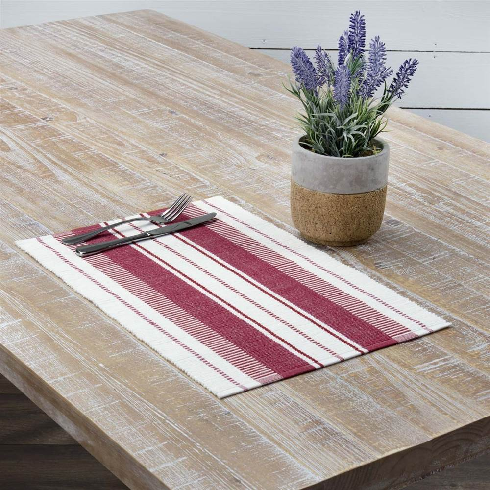VHC Americana Farmhouse Tabletop & Kitchen - Samantha Ribbed Placemat Set of 6