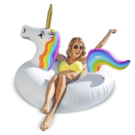 GoFloats Unicorn Party Tube Inflatable Swimming Pool Raft, Float In Style, for Adults and Kids - Walmart Inflatables