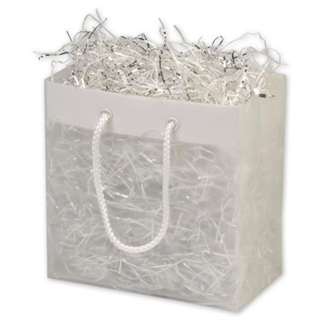 Bags & Bows by Deluxe 268-060306-EURO Clear Frosted High Density Euro Shoppers - Case of 200 (Euro Shoppers)