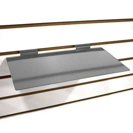 Gray Slatwall Metal Large Shoe Shelf, Flat Display Shelves for Slat - 6