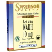 Swanson Fast-acting Nadh High Bioavailability 10 mg 30 Lozenges