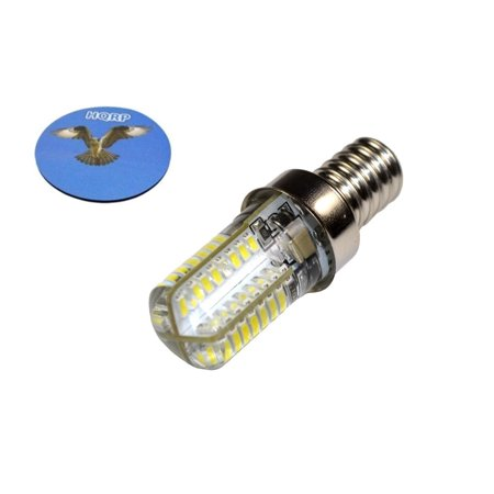 HQRP E12 Base 64 SMD3014 LED Bulb AC 110V Cool White for microwave / refrigerator / ice maker / fridge / beverage center lights plus HQRP Coaster