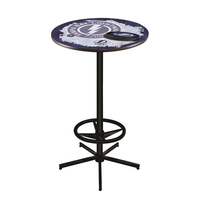 Holland Bar Stool L216B4236TBLght 42 in. Tampa Bay Lightning Pub Table with 36 in. Top, Black - image 1 de 1
