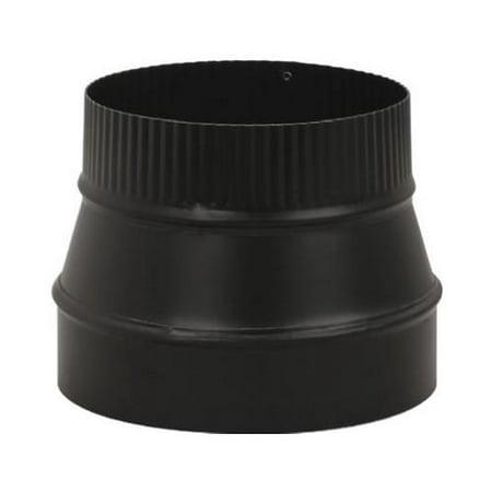 Imperial Mfg Group Usa BM0079 Black Stove Pipe Flue Reducer, 24-Ga., 8 x - Wood Burning Stove Flue Pipe