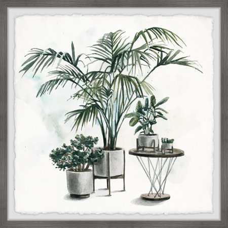 Marmont Hill Indoor Tropical Garden II Framed Painting Print-Size:24
