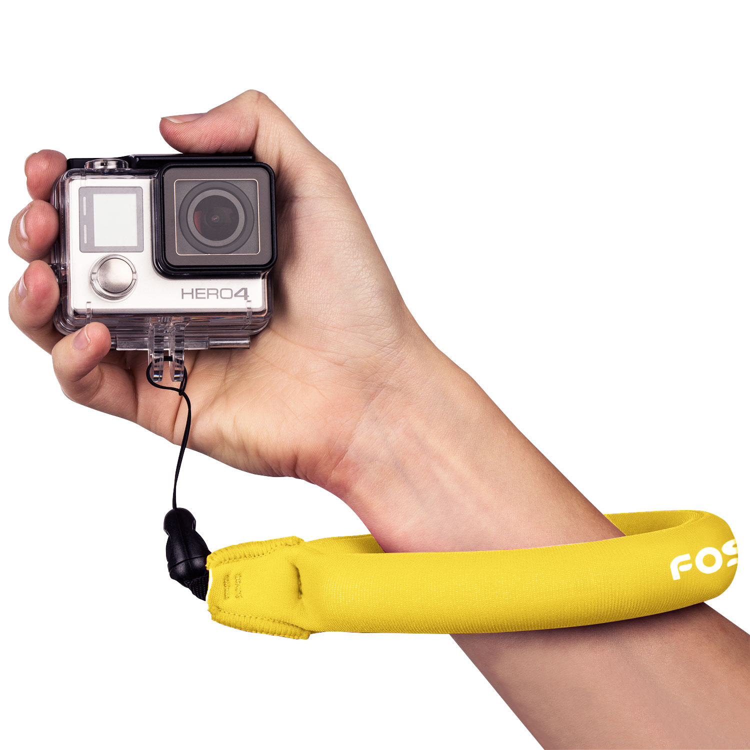 Fosmon Floating Camera Strap Universal Floating Wrist Strap for GoPro, Waterproof Camera, Phone, Keys and More (Yellow)