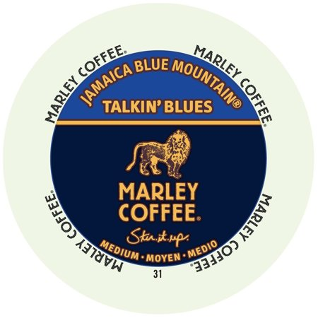 Marley Coffee Jamaican Blue Mountain, RealCup portion pack for Keurig K-Cup Brewers, 24 Count