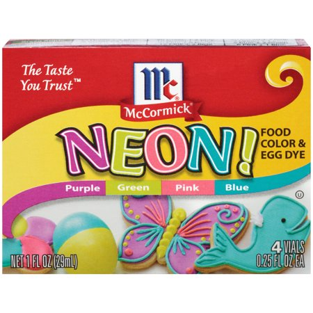 (2 Pack) McCormick Neon Assorted Food Color & Egg Dye, 1 fl