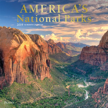America's National Parks 2019 12 Inch x 12 Inch Monthly Square Wall Calendar with Foil Stamped Cover by Plato, Yosemite Yellowstone (Inca Calendar)
