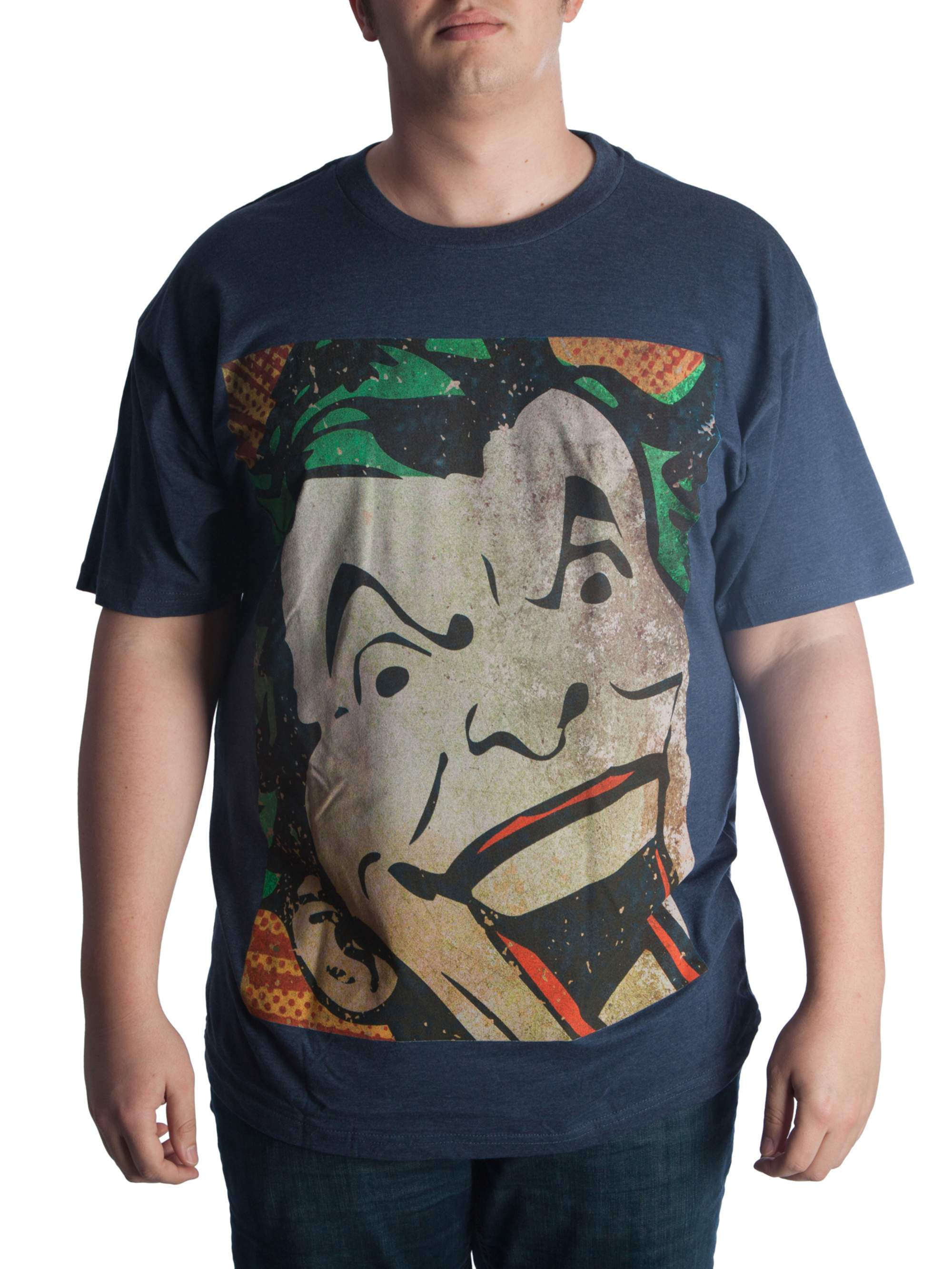 DC Comics Big Men's Joker Laughing Short Sleeve Graphic T-Shirt, up to Size 6XL