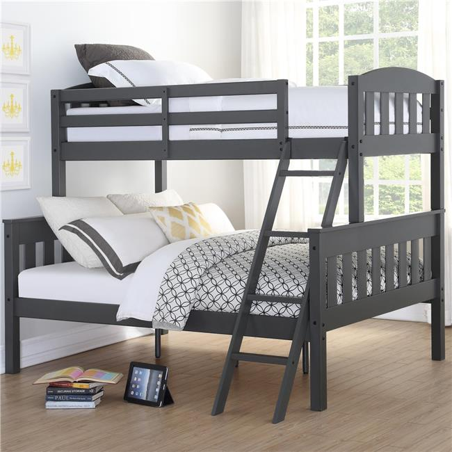 Dorel Living Airlie Twin Over Full Wood Bunk Bed, Multiple Colors