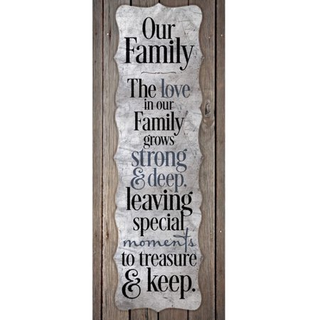 Dexsa Our Family   The Love In Our Fam New Horizons Textual Art Wood Plaque
