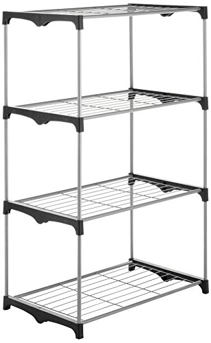 Storage Shelf, Whitmor 4-tier Black Tool Food Shelving Kitchen Metal Shelf by Whitmor