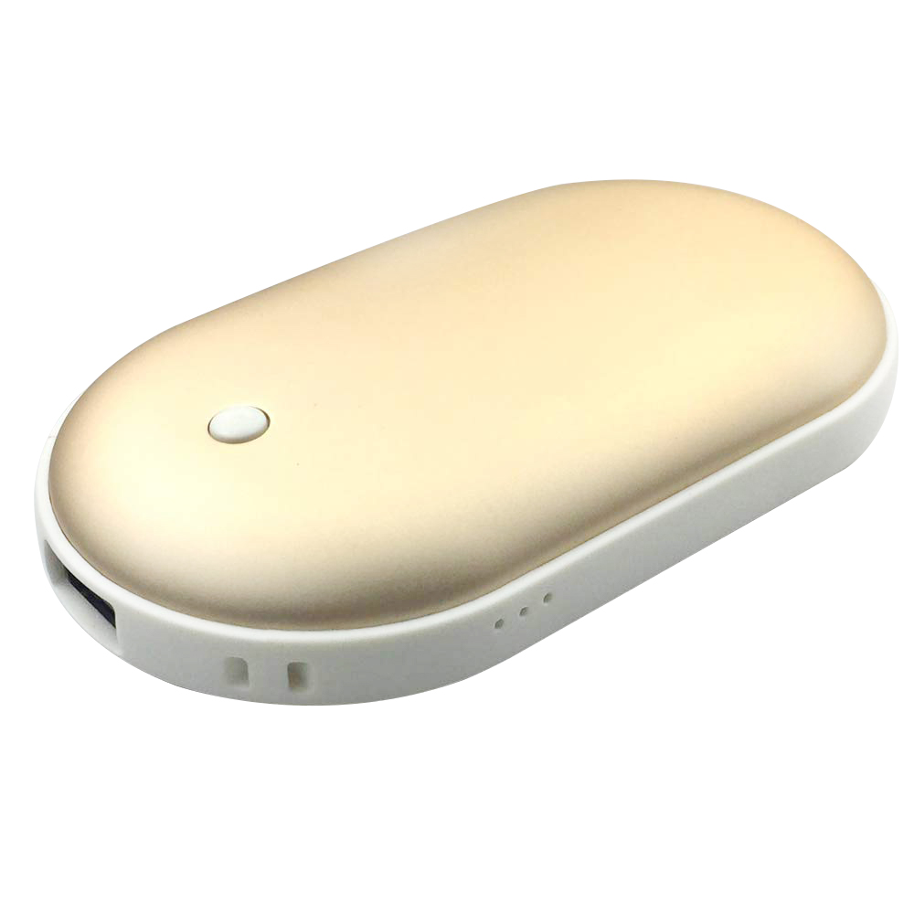 Hand Warmer Cobblestone USB Charging Treasure Rechargeable Double-Sided O6J1