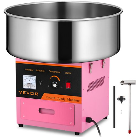 Bestequip Candy Floss Maker 20.5 Inch Commercial Cotton Candy Machine Stainless Steel for Various Parties