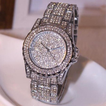 Outtop Luxury women watches rhinestone ceramic crystal Quartz watches Lady Dress Watch