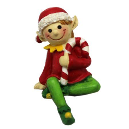 Christmas Elf Shelf Sitting Figure: Red/Green Outfit w/Candy Cane - By Ganz](Next Elf Outfit)