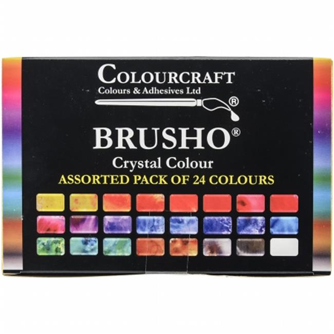 Colorfin BASS24 Brusho Crystal Colours Set