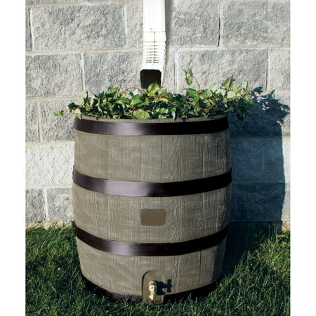 Round Rain Barrel w/ Planter -