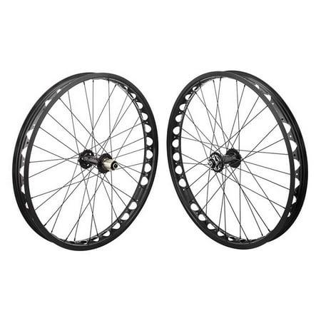 Disc 26' Mtb Wheels (Wheel Masters 26 Alloy Fat Disc WHL PR 26x4.0 559x54 OR8 AT-PRO60 BK 32 OR8 FB1100 8-10sCAS 6B QR SEAL BK 135mm)